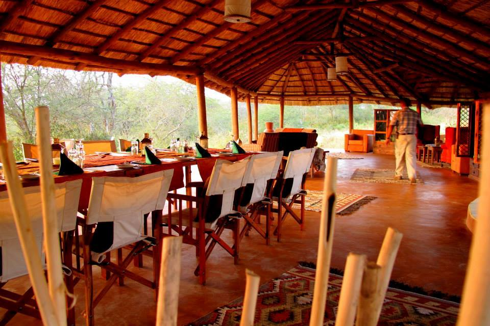 Restaurant, Little Oliver's Camp, Tarangire Nationalpark, Tansania Flitterwochen