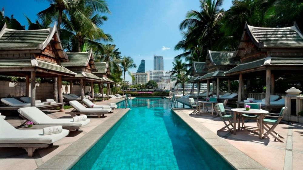 Pool, The Peninsula Bangkok, Thailand Reise