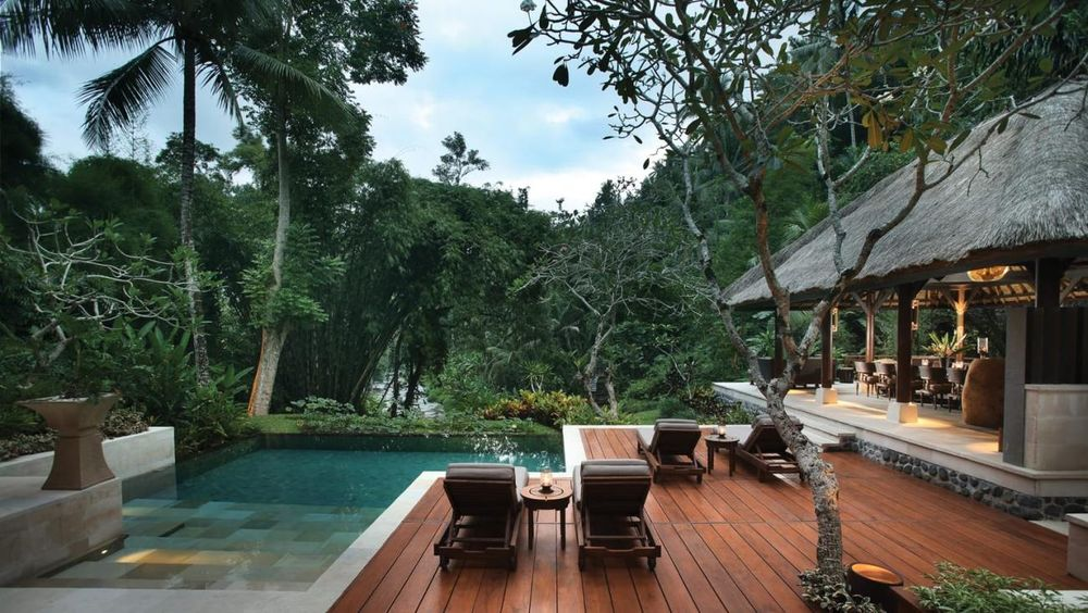 Ausblicke, Four Seasons Bali at Sayan, Ubud, Indonesien Flitterwochen