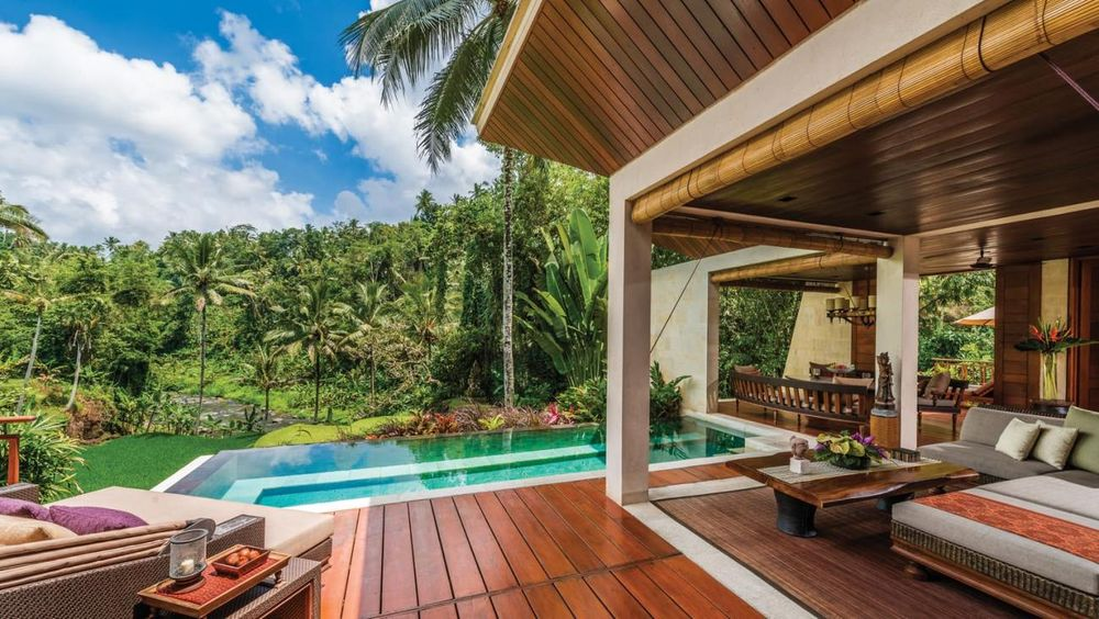 Privatpool, Four Seasons Bali at Sayan, Ubud, Indonesien Flitterwochen